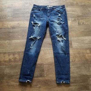 NEW Kancan Destroyed Stretchy Jeans